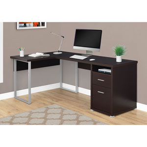 Cappuccino Left Or Right Facing Computer Desk
