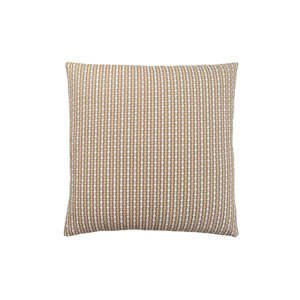 18-Inch Dark Taupe Abstract Dot Pillow