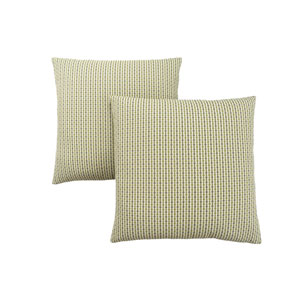 18-Inch Light and Dark Green Abstract Dot Pillow- Set of 2