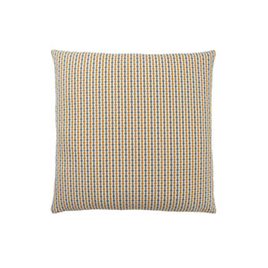 18-Inch Gold and Grey Abstract Dot Pillow