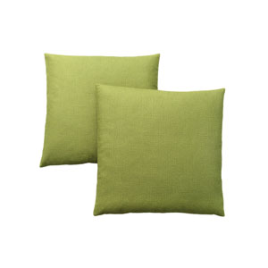 18-Inch Patterned Lime Green Pillow- Set of 2