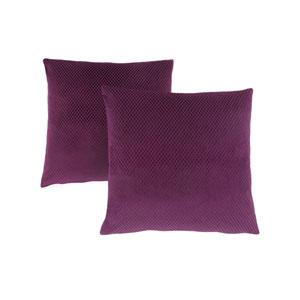 18-Inch Purple Diamond Velvet Pillow- Set of 2