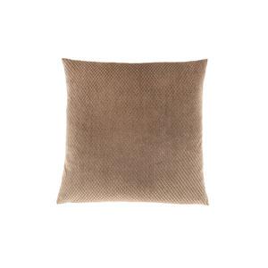 18-Inch Beige Diamond Velvet Pillow