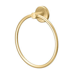 Latitude II Brushed Brass Towel Ring