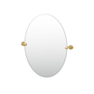 Latitude II Brushed Brass 27-Inch Frameless Oval Mirror