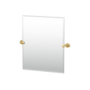 Latitude II Brushed Brass 24-Inch Frameless Rectangle Mirror