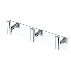 Elevate All Modern Decor Triple Hook Chrome