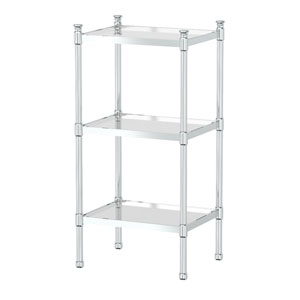 Chrome 3-Tier Rectangle Taboret