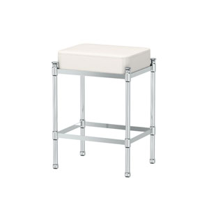 Chrome Vanity Stool