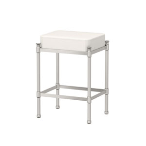 Satin Nickel Vanity Stool