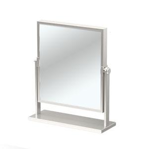 Elegant Table Mirror Satin Nickel
