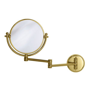 Premier Polished Brass Swing Arm Mirror