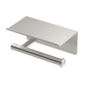 Latitude II Tissue Holder with Mobile Shelf Satin Nickel