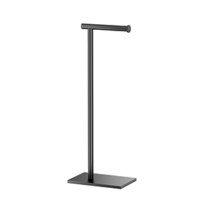 Modern 22-Inch Square Base Tissue Holder Stand  Matte Black