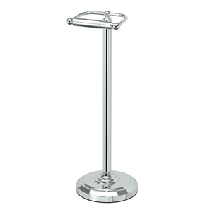 Chrome Floor Standing Tissue Holder