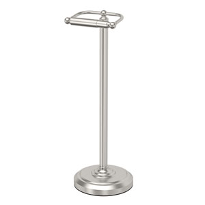 Satin Nickel Floor Standing Tissue Holder