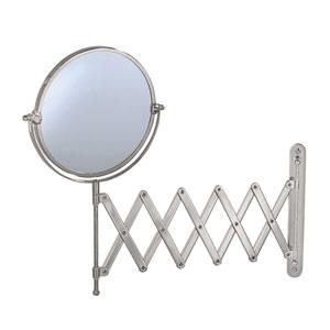 Premier Satin Nickel Accordion Mirror