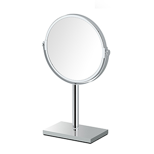 Rectangle Base Countertop Mirror Chrome