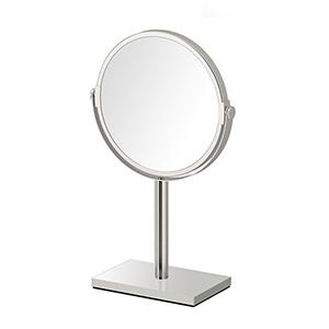Rectangle Base Countertop Mirror Satin Nickel