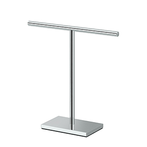 Rectangle Base T-Shape Towel Holder Chrome