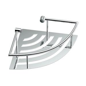 Satin Nickel Elegant Shower Shelf