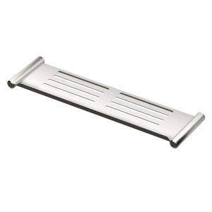 Elegant Brushed Nickel 19-Inch Shower Shelf