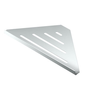 Elegant Chrome 13-Inch Corner Shelf