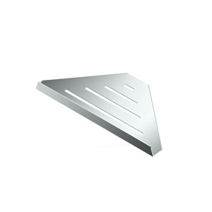 Elegant Hotel Corner Shelf 9-inch Chrome
