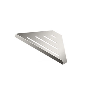 Elegant Hotel Corner Shelf 9-inch Satin Nickel