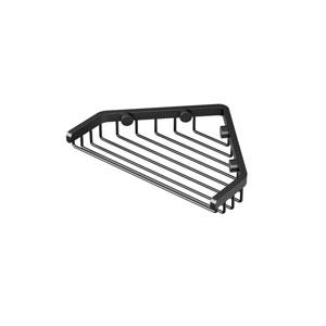 Corner 7-Inch Shower Basket in Matte Black