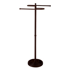 Bronze Floor Standing S-Shaped Towel Rack