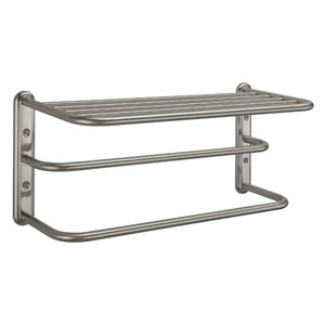 Satin Nickel Spa Rack - Three Tier 20 Inches