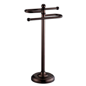 Bronze Countertop S-Shaped Towel Rack