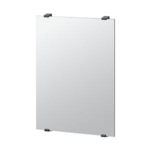 Bleu 31-Inch Minimalist Rectangle Mirror Matte Black