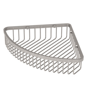 Satin Nickel Corner Shower Basket