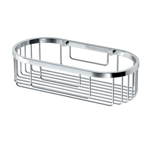 Chrome Oval Basket