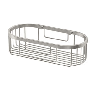 Satin Nickel Oval Basket