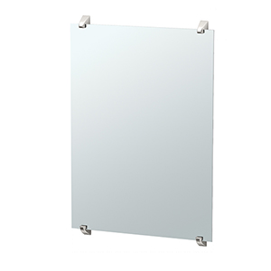 Quantra 32-Inch Minimalist Rectangle Mirror Satin Nickel