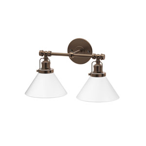 Café Bronze Double Sconce