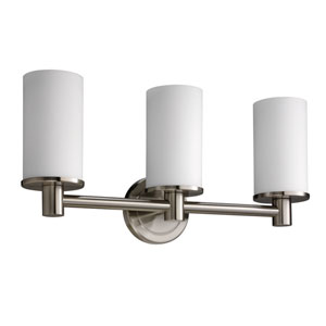 Latitude II Satin Nickel Triple Sconce Light