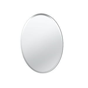 Flush Mount Oval Frameless Regular Mirror
