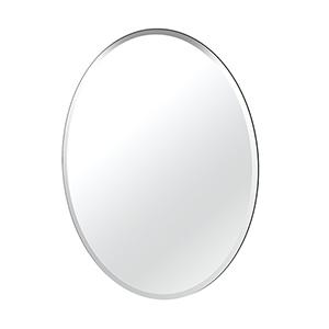 Flush Mount Oval Frameless Large Mirror