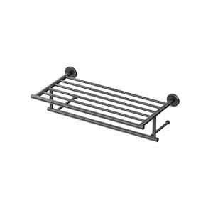Latitude II 18-Inch Minimalist Towel Rack in Matte Black