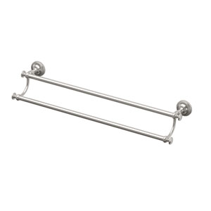 Tavern 24-inch Double Towel Bar Satin Nickel