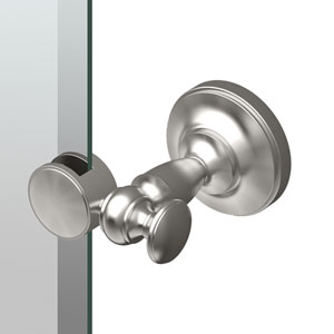 Tavern 26.5-Inch Frameless Oval Mirror in Satin Nickel