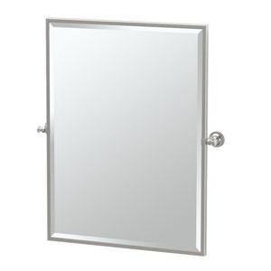 Tavern Satin Nickel Framed Large Rectangle Mirror
