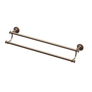 Tavern Bronze 24-Inch Double Towel Bar