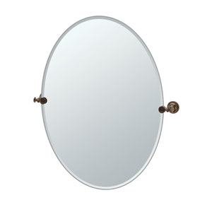 Tavern Bronze Large Oval Mirror