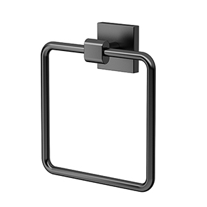 Elevate Towel Ring Matte Black