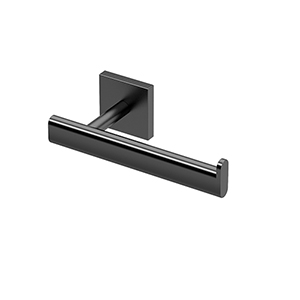 Elevate Single Post Euro Style Toilet Paper Holder Matte Black